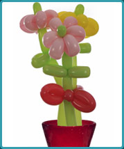 The Balloon Guy - Balloon Twisting a Flower Bouquet