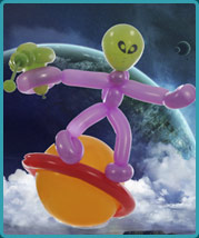 The Balloon Guy - Balloon Twisting a Space Alien